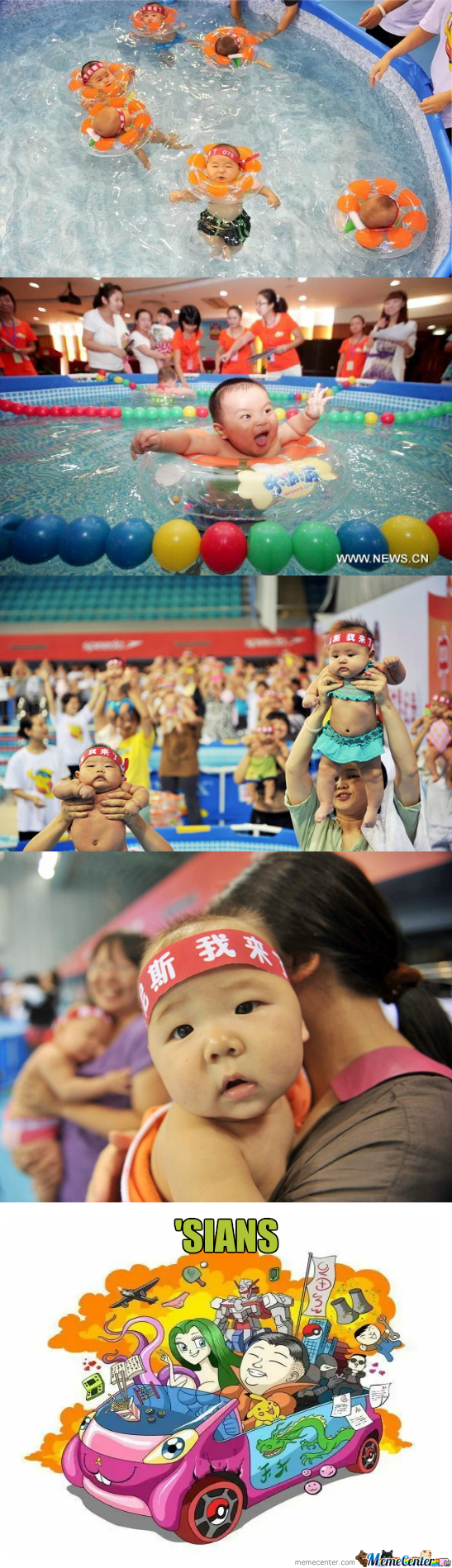 Swimming Competition For Babies