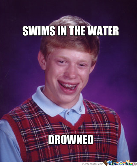 Swims In The Water......drowned