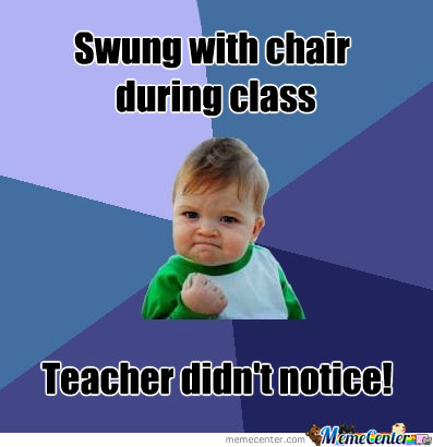 Swung With Chair