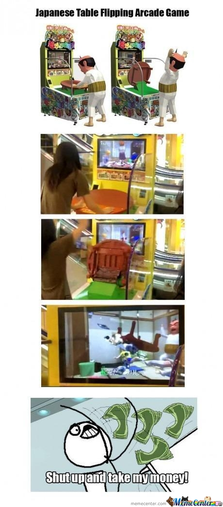 Table Flipping Arcade Game