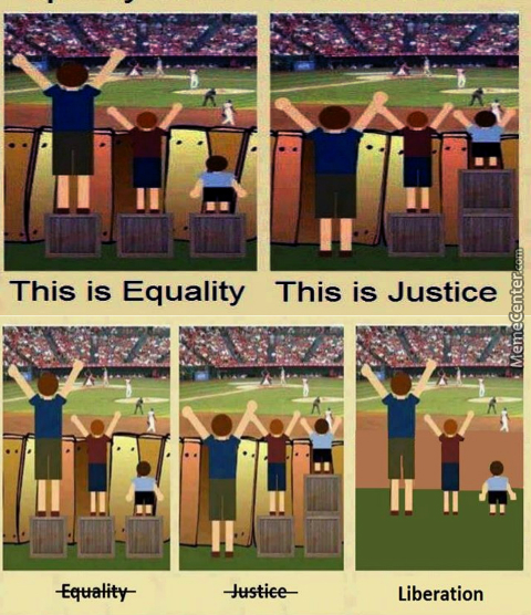 Tearing Down The Fence Is Equality