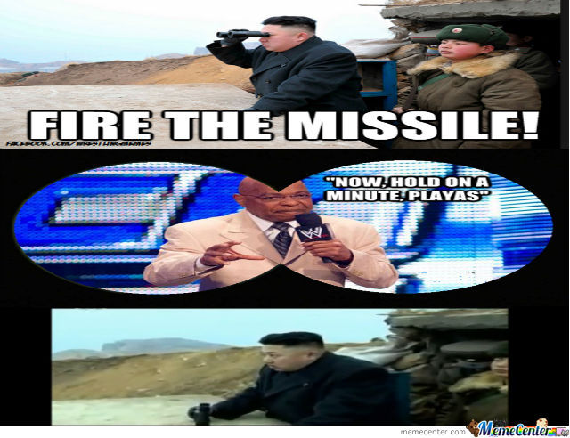 Teddy Long Not Impress With Kim's Missile Firing....