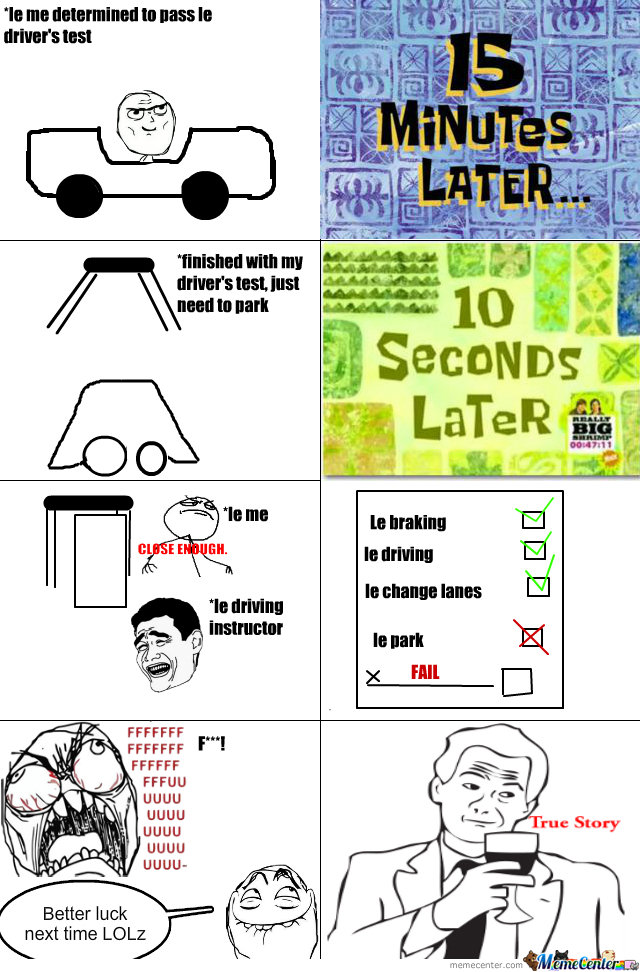teenagers driving test_o_172254 teenager's driving test by nemoinc meme center