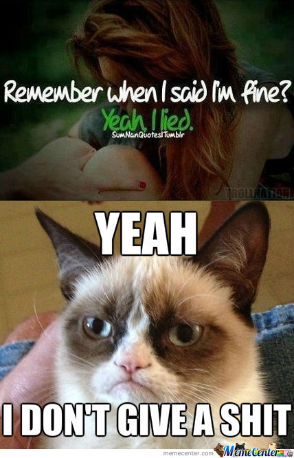 Tell Grumpy Cat About It