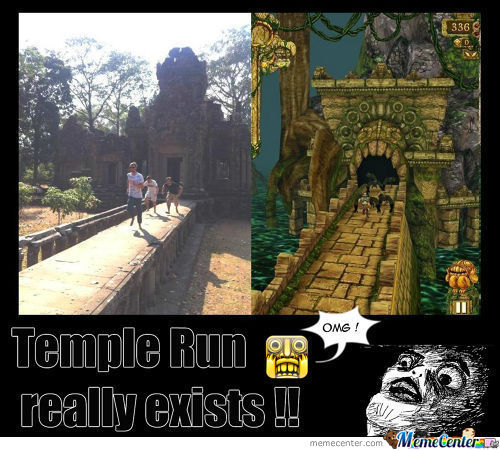 Temple Run Really Exists!! O_O