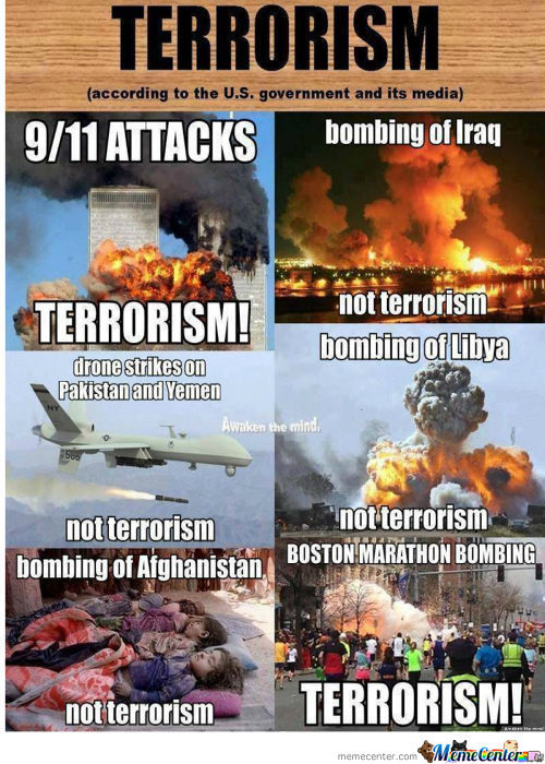 Terrorism According To Th' Us Gov. Even If It Against The Will Of People .. !