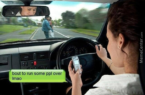 Texting And Driving In A Nuthshell