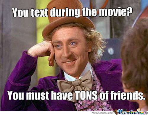Texting In The Movies