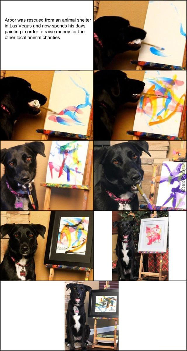 Tfw A Dog Is Better At Art Than You