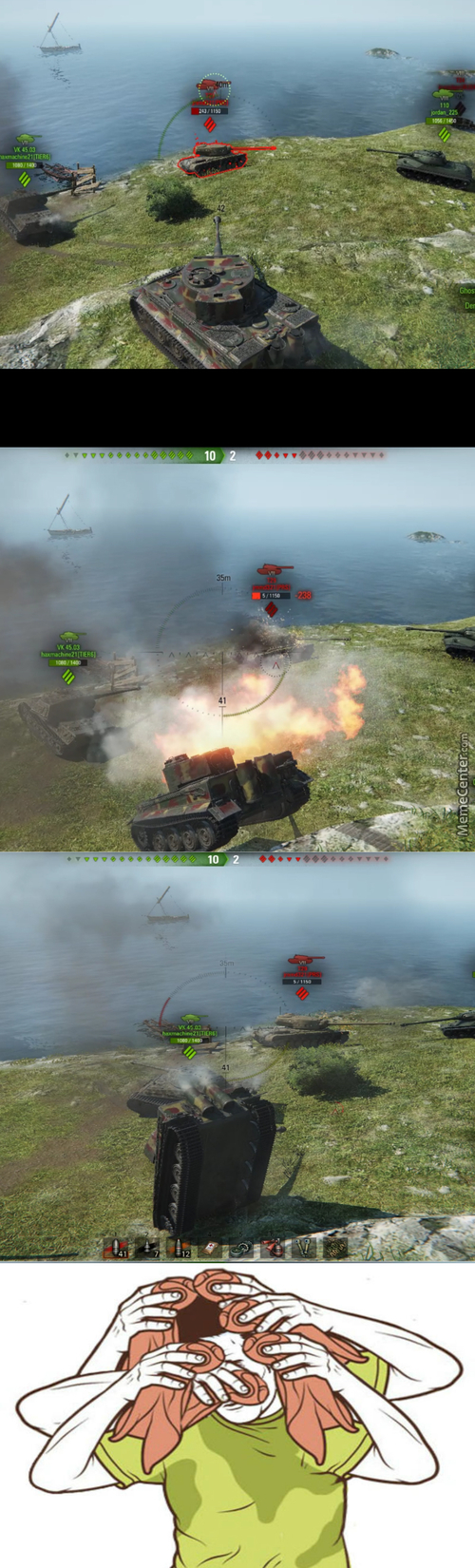 Tfw You Almost Flip Your Tank