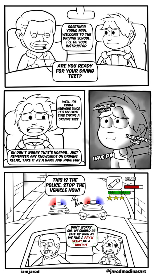 Thanks Gta For Teaching Me Important Life Lessons (And Thanks J-Jay For The Idea For This Comic)