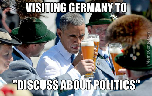 Thanks Obama! Now I Want A Beer Too.
