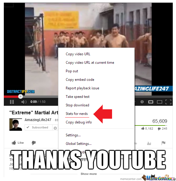 Thanks Youtube, I Was In Great Need Of Those Stats!