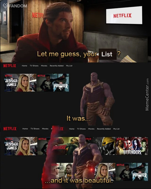 Thanos Snapped Netflix Confirmed