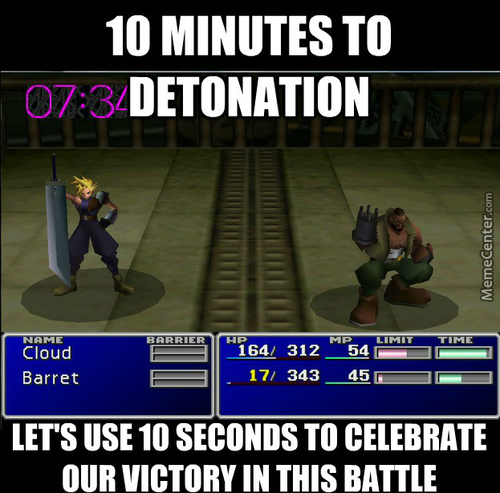 That Actually Got Me Killed Once. Final Fantasy Logic.