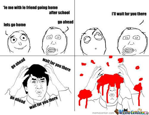 That Akward Moment When Your Friend Is Being Stupid