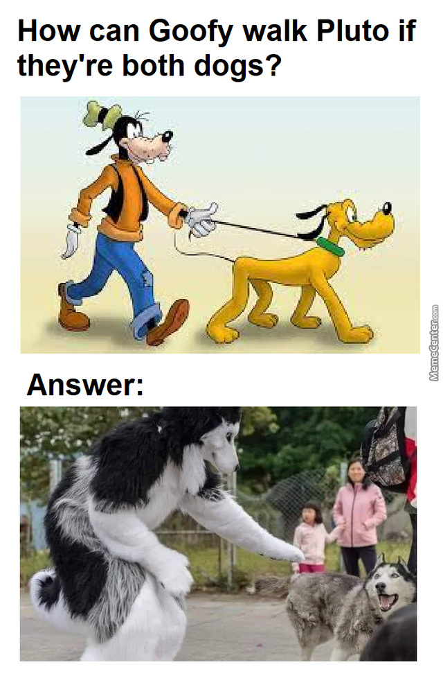 That'S Right. Goofy Is A Furry.