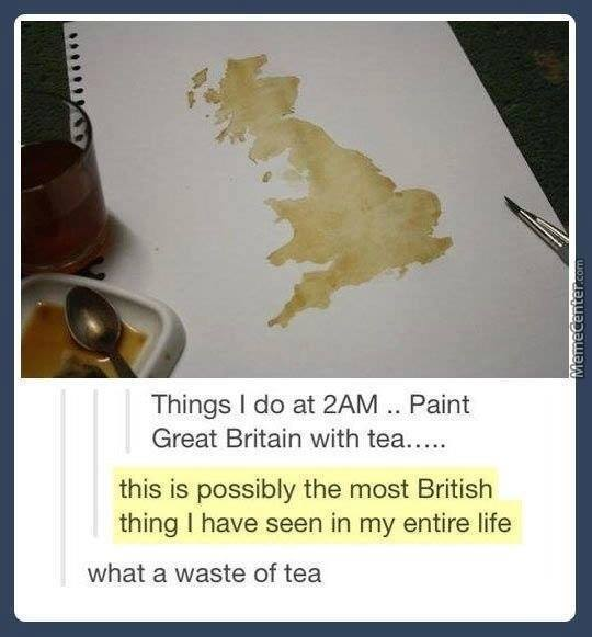 That's The Most British Thing I Have Ever Seen, I See A Witch Riding A Pig Though