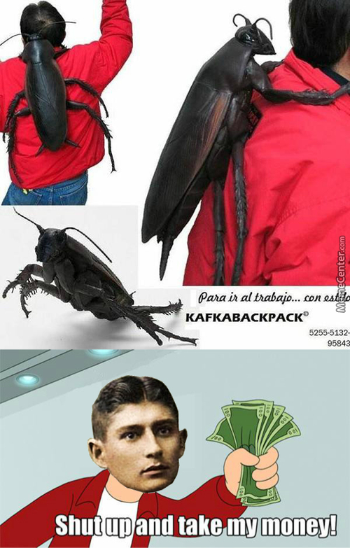 That Backpack Looks Really Kafkaesque