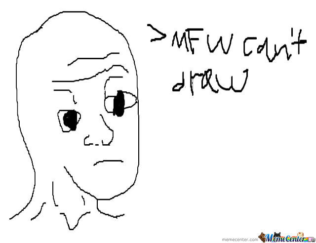 That Feel When Can't Draw