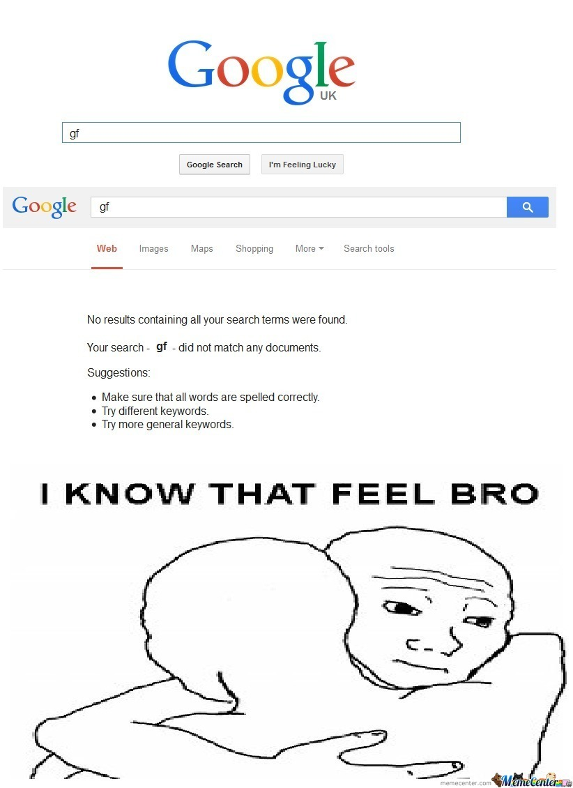 That Feel When No Gf By Mustm6 Meme Center