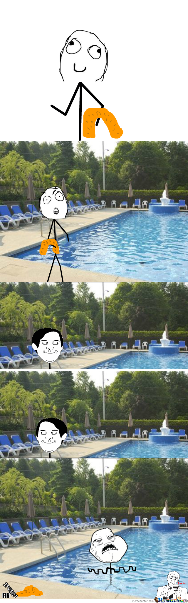 That Lucky Moment When There's Nobody At The Swimming Pool!