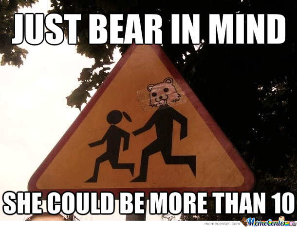 Thats Pedobear's Rule, 2 Digits Is Too Much