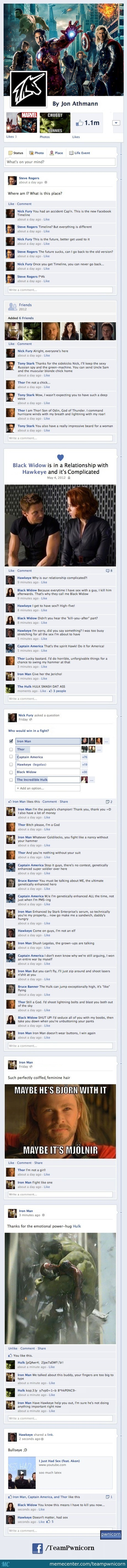 The Avengers On Facebook