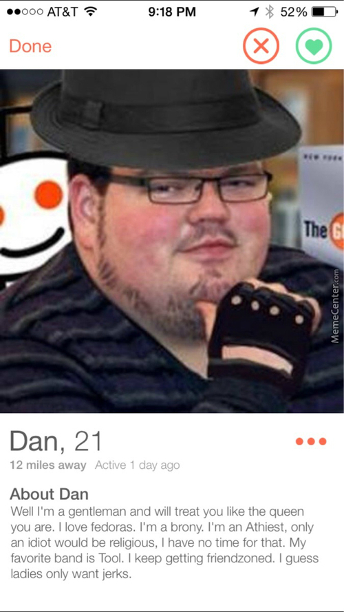 The Average Memecenterian On Tinder :^)
