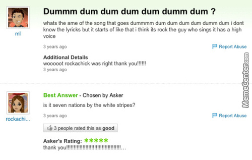 The Best Answer Ever
