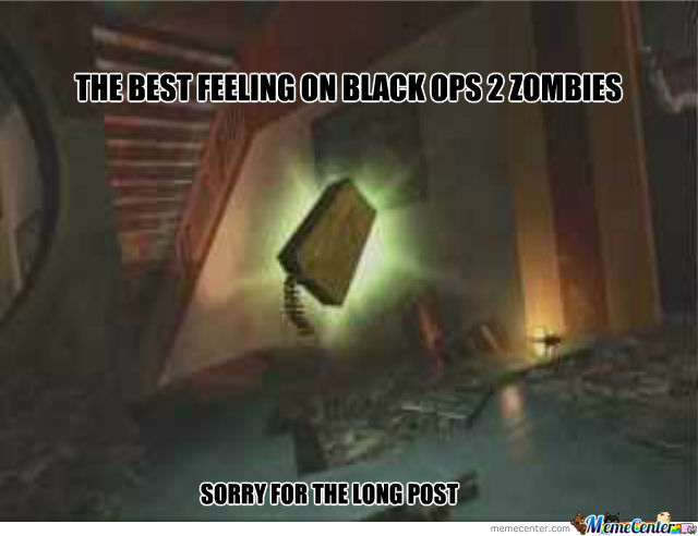 the best feeling on black ops 2 zombies_o_1404337 the best feeling on black ops 2 zombies by recyclebin meme center