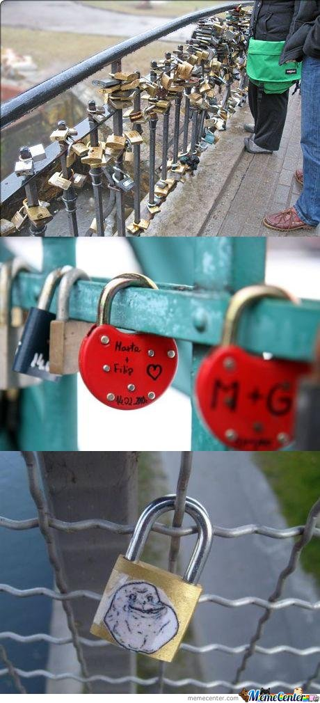 The best padlock on Love Bridge isssssssss.....................