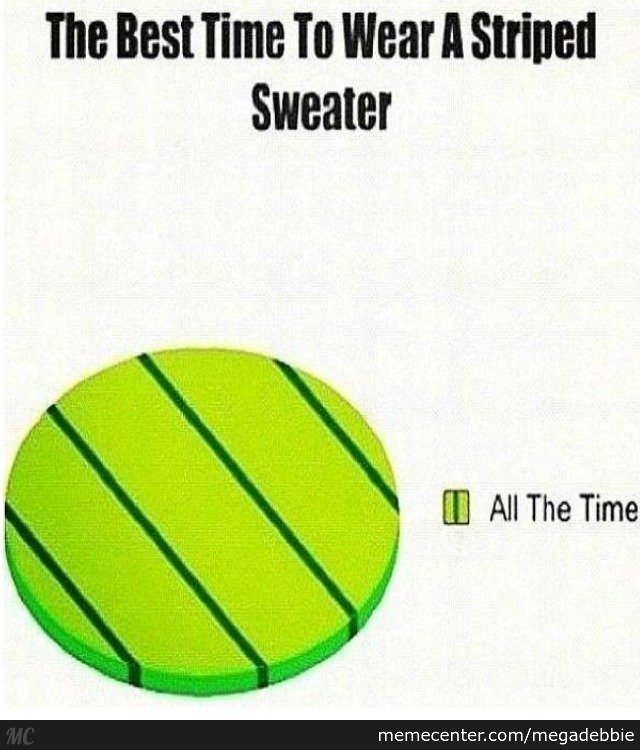 The Best Time To Wear A Striped Sweater By Megadebbie Meme Center
