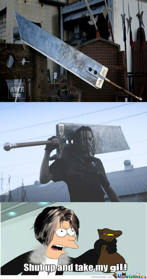 The Buster Swords Real!!