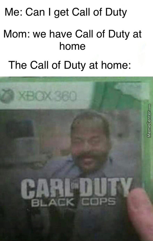 The Call Of Duty At Home...