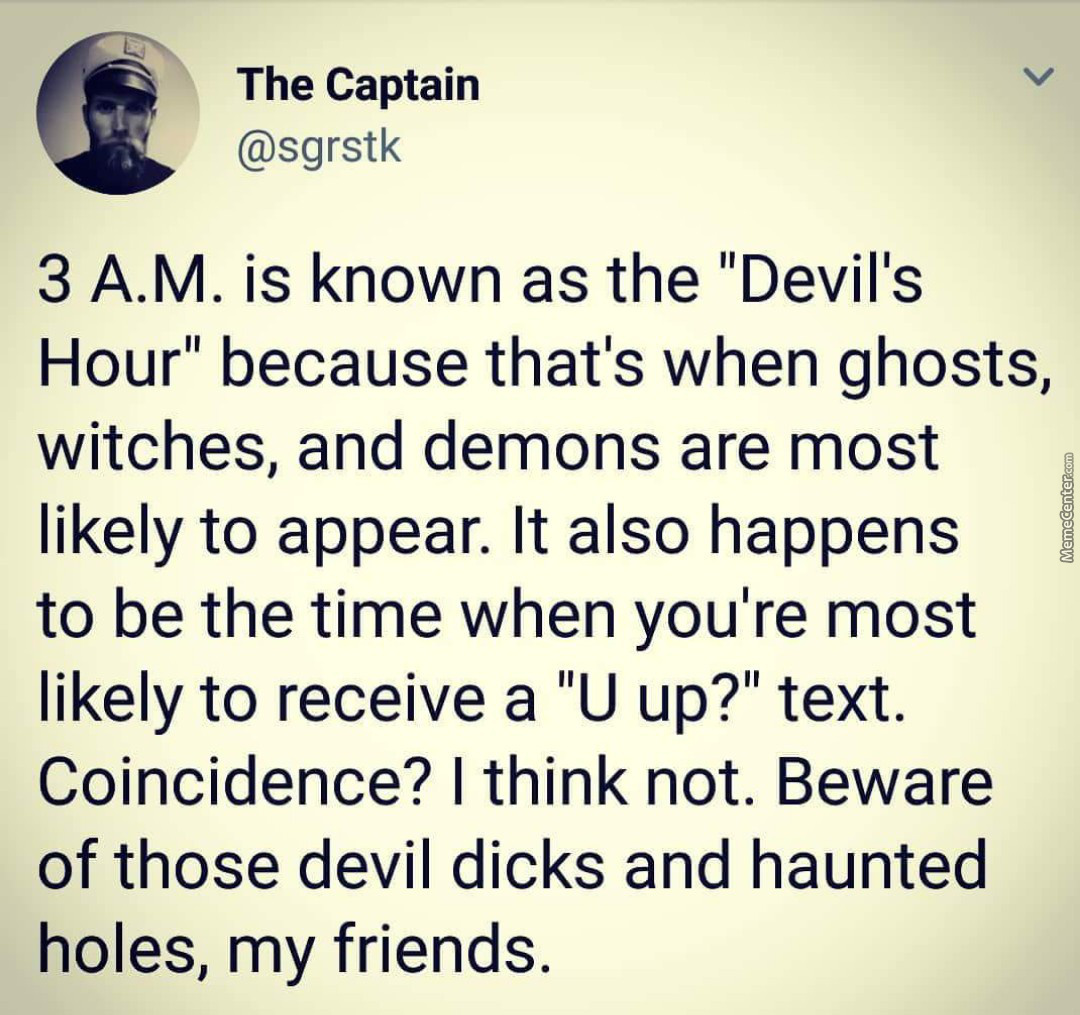 The Captain Is Right Stay Safe Lol