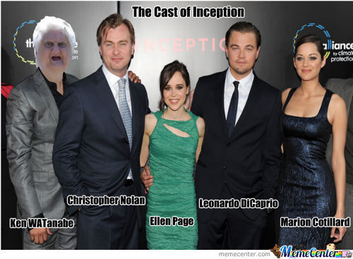 The Cast Of Inception