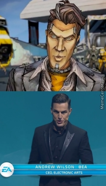 The Ceo Of Ea Looks Exactly Like Handsome Jack From Borderlands 2