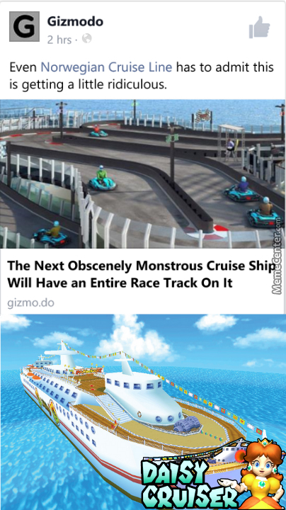 The Cruise Ship Wouldn't Have To Be Monsterous, They Just Need To Make The Track Take All Of The Ships Space.