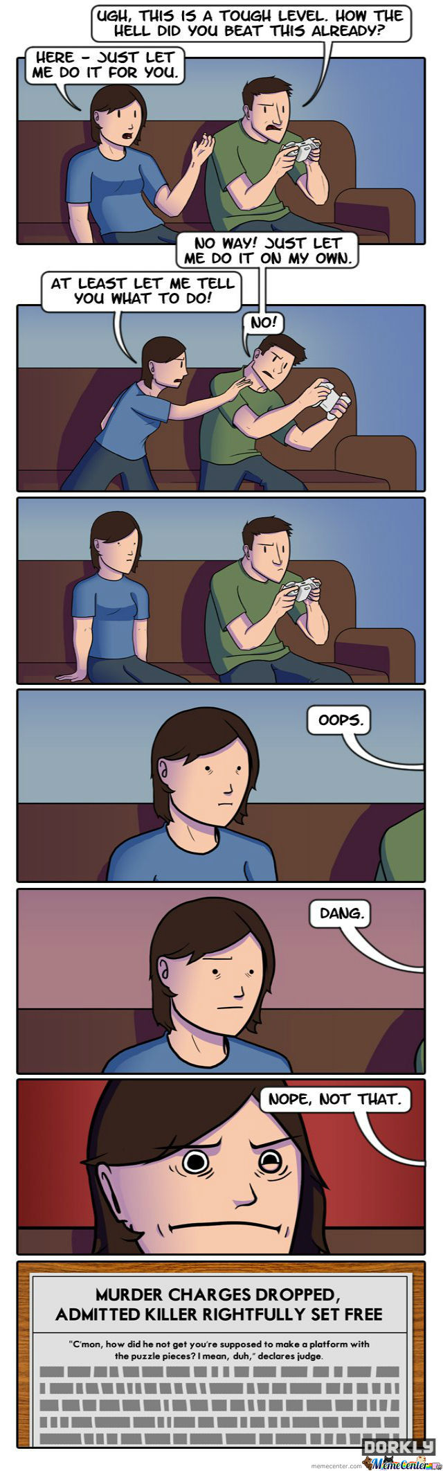 The Dangers Of Backseat Gaming (Dorkly)