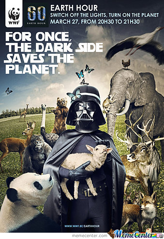 The Dark Side Saves The Planet