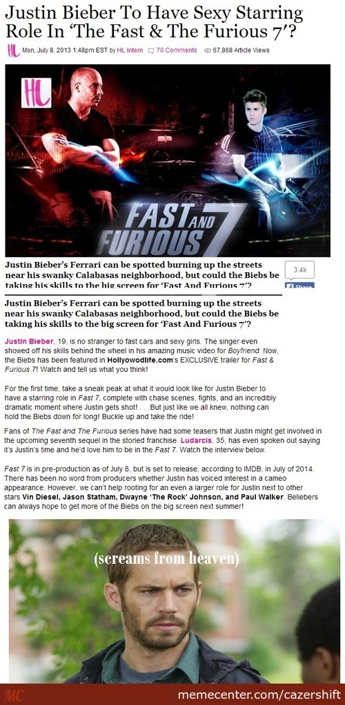 The Fag And Furious 7?
