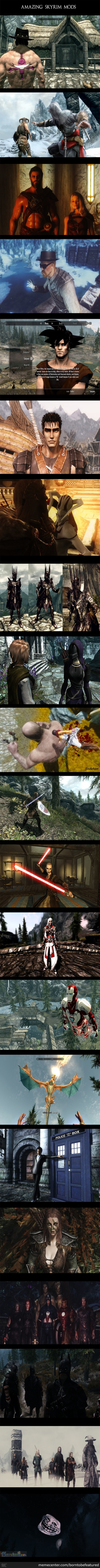 The Glory Of Skyrim Mods.