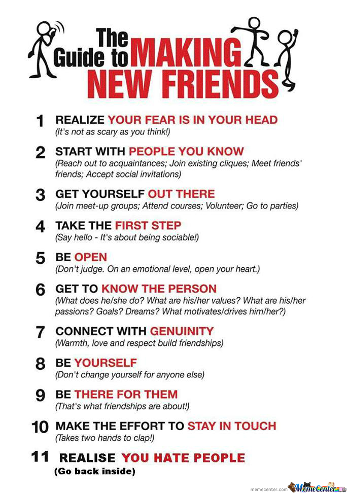 The Guide To Making New Friends!
