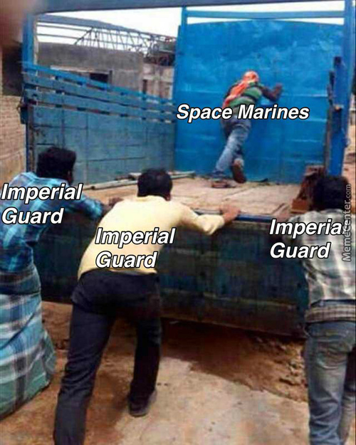 The Imperial Guard May Be Blood Filled Meat Shields But Eventually The Enemy Will Drown In That Blood