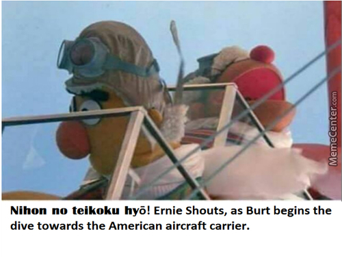 "The Imperial Japanese Empire Honors Their Dutiful Sacrifice. (Yes I Used Google Translate) Also Sorry For Misspelling ""bert"""