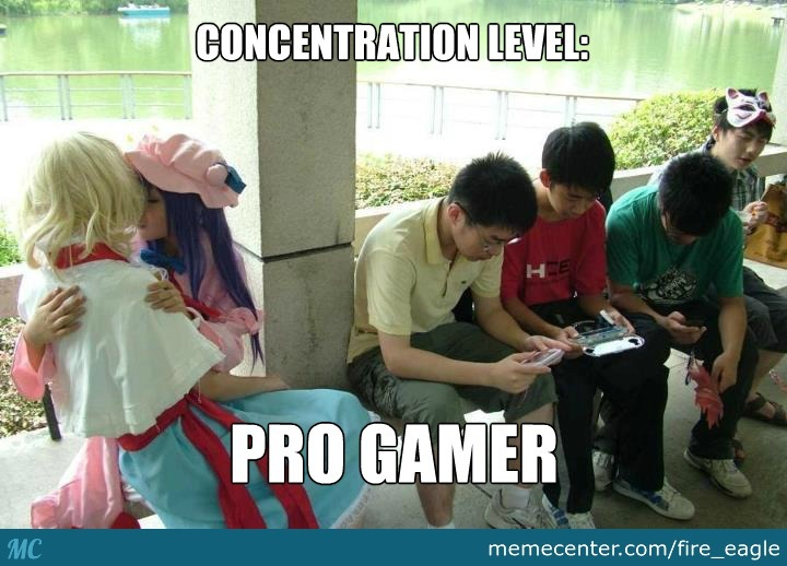 The Level Of Concentration Here Is Damn Too High
