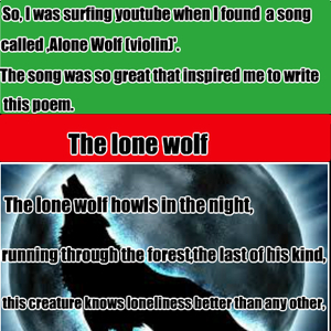 The Lone Wolf by pitchblack - Meme Center