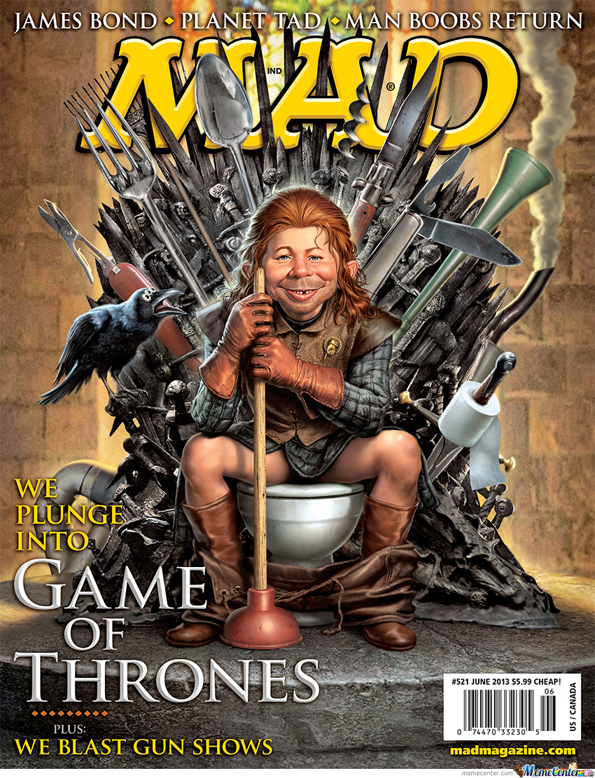 The Mad Magazine's Game Of Thrones Cover