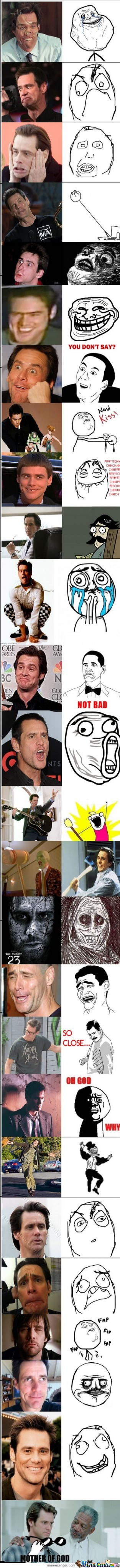 The Many Faces Of Jim Carrey as Rage Faces